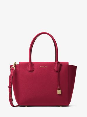 Mercer Large Bonded Leather Satchel by Michael Kors
