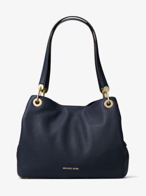 Raven Large Leather Shoulder Bag by Michael Kors