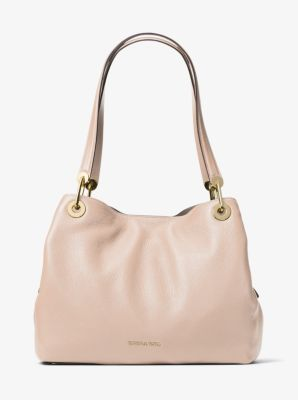 59e3ab90f7d8 Raven Large Leather Shoulder Bag | Michael Kors