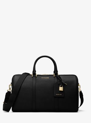 마이클 코어스 Michael Kors Jet Set Travel Large Leather Weekender,BLACK
