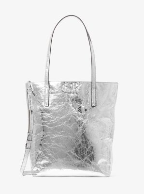 Emry Large Crinkled-Leather Tote by Michael Kors