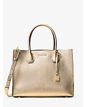 Mercer Large Metallic Leather Tote