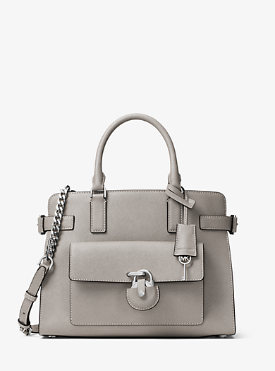 Emma Saffiano Leather Satchel by Michael Kors