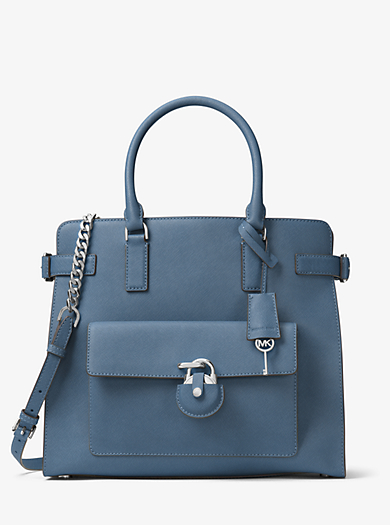 Emma Large Saffiano Leather Tote by Michael Kors