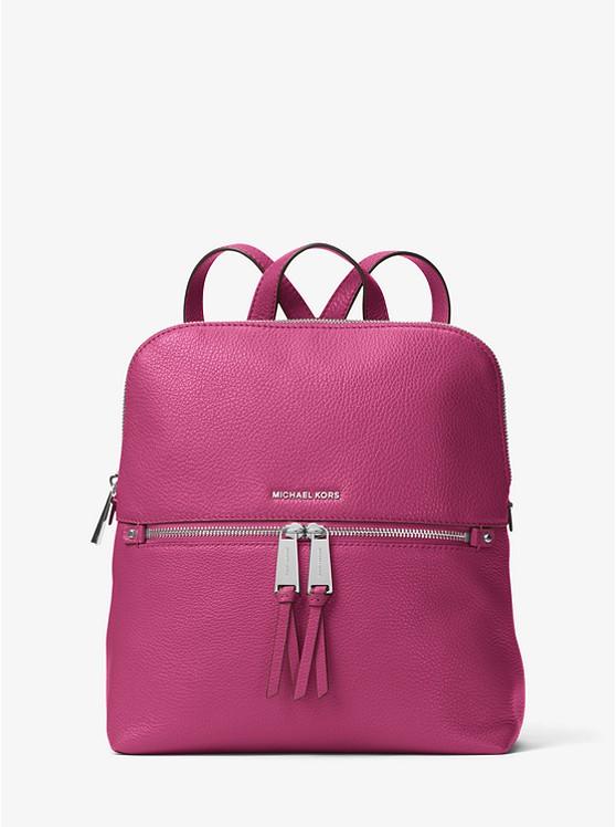 Rhea Medium Slim Leather Backpack | Michael Kors
