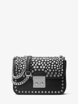 Sloan Editor Medium Studded Leather Shoulder Bag by Michael Kors