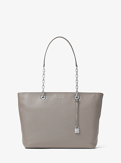 Mercer Medium Chain-Link Leather Tote by Michael Kors