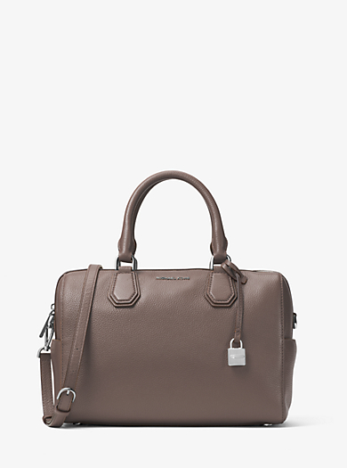 Mercer Medium Leather Duffel by Michael Kors