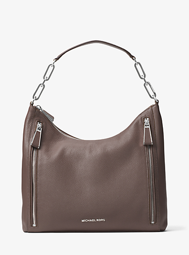 Matilda Large Leather Shoulder Bag by Michael Kors
