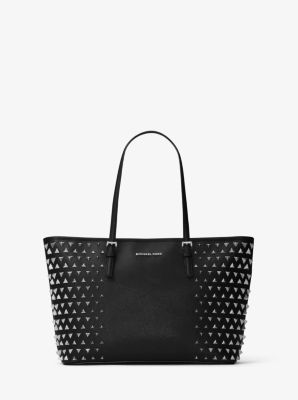 Jet Set Pyramid Medium Leather Tote by Michael Kors