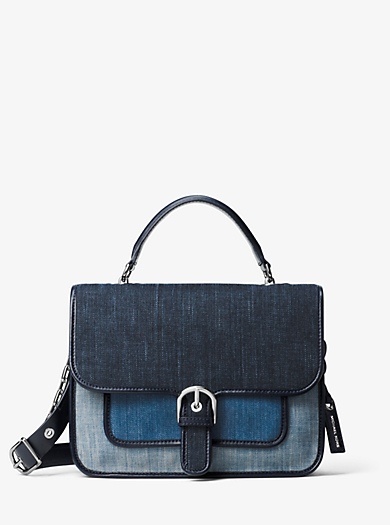 Borsa a mano Cooper grande in denim by Michael Kors