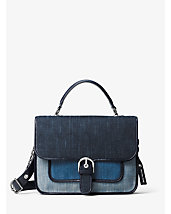 Cooper Large Denim Satchel