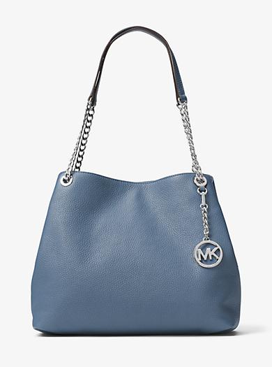 Jet Set Large Leather Shoulder Bag by Michael Kors