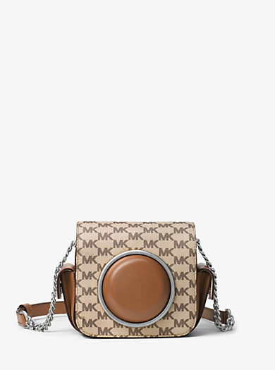 Scout Medium Heritage Logo Camera Bag by Michael Kors