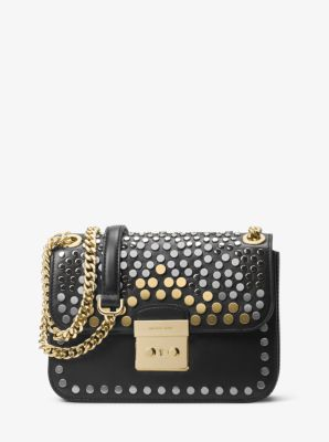5f75f8439170 ... MICHAEL KORS. SLOAN EDITOR MEDIUM STUDDED LEATHER SHOULDER BAG ...