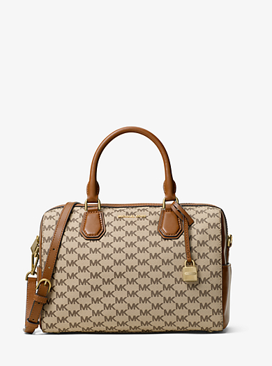 Borsa a mano Mercer media con logo Heritage by Michael Kors