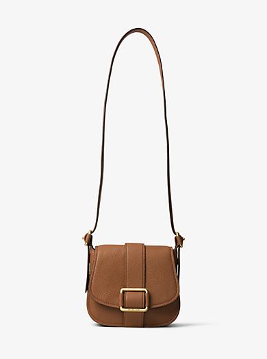 Maxine Medium Leather Saddlebag by Michael Kors