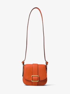 Maxine Medium Leather Saddlebag by Michael Kors