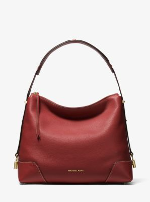 마이클 마이클 코어스 Michael Michael Kors Crosby Large Pebbled Leather Shoulder Bag