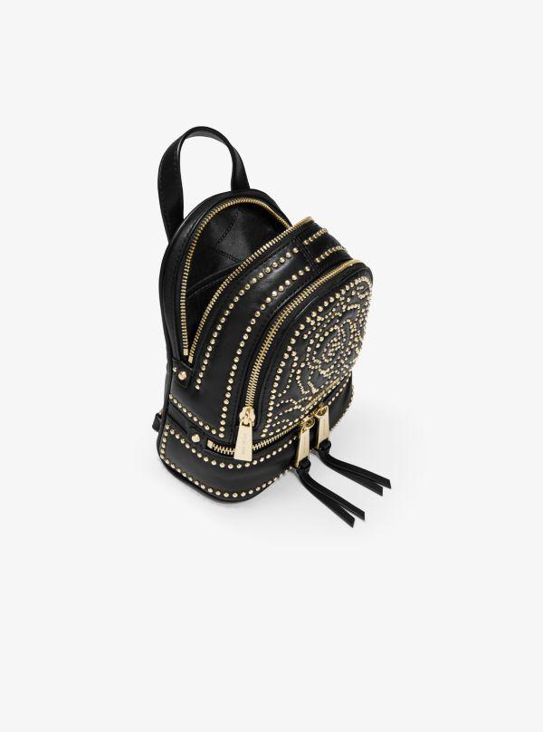 Michael Kors - Rhea Mini Rose Studded Leather Backpack - 2