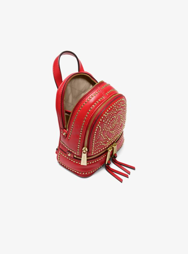 Michael Kors - Rhea Mini Rose Studded Leather Backpack - 2
