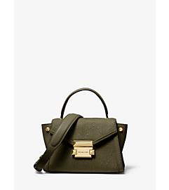 Mini sacoche Whitney en cuir matelassé à motif déco
