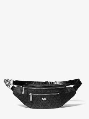 마이클 마이클 코어스 Michael Michael Kors Medium Logo Belt Bag,BLACK