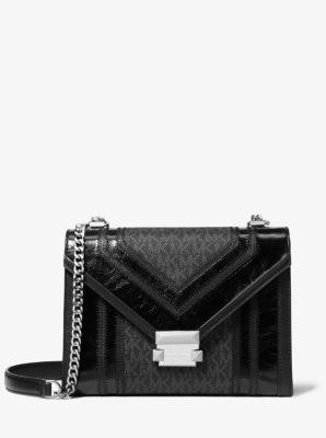 마이클 마이클 코어스 위트니백, 라지 로고 숄더백 블랙 Michael Michael Kors Whitney Large Logo Convertible Shoulder Bag,BLACK
