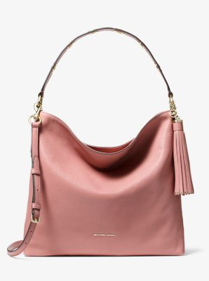 마이클 마이클 코어스 Michael Michael Kors Brooklyn Large Pebbled Leather Shoulder Bag,ROSE