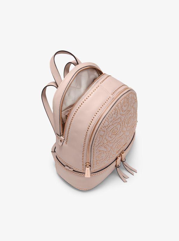 Michael Kors - Rhea Medium Rose Studded Leather Backpack - 2