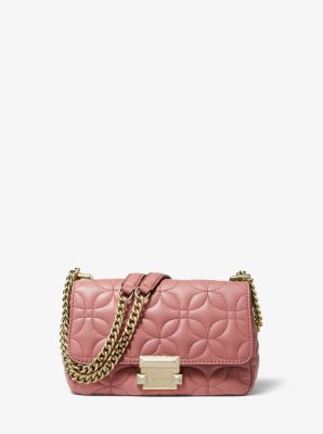 $136.22 SLOAN SMALL FLORAL QUILTED LEATHER SHOULDER BAG