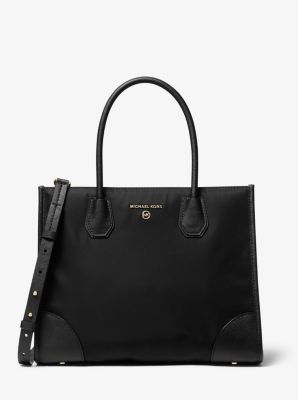 마이클 마이클 코어스 Michael Michael Kors Mercer Large Nylon Gabardine Tote Bag,BLACK