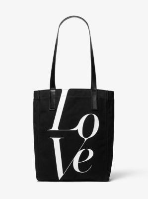 마이클 마이클 코어스 Michael Michael Kors Watch Hunger Stop LOVE Tote Bag,BLACK