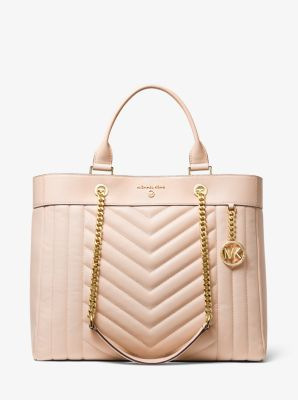 마이클 마이클 코어스 Michael Michael Kors Susan Extra-Large Quilted Leather Convertible Tote Bag