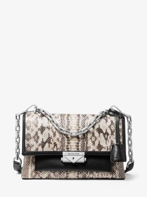 마이클 마이클 코어스 숄더백 미디움 Michael Michael Kors Cece Medium Snakeskin Shoulder Bag,NATURAL