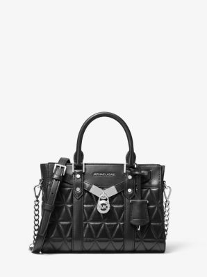 마이클 마이클 코어스 누보 해밀턴백 스몰 Michael Michael Kors Nouveau Hamilton Small Quilted Leather Satchel,BLACK