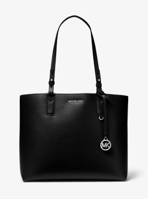 마이클 마이클 코어스 Michael Michael Kors Cameron Large Leather Reversible Tote Bag,BLACK/GREY