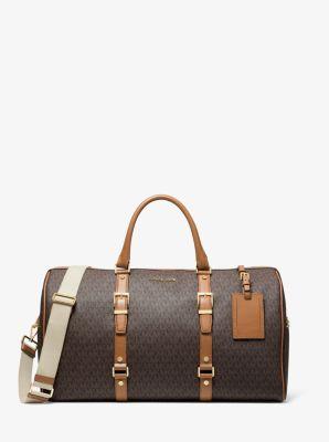 마이클 마이클 코어스 로고 위캔더백 엑스트라 라지 Michael Michael Kors Bedford Legacy Extra-Large Logo Weekender Bag,BRN/ACORN