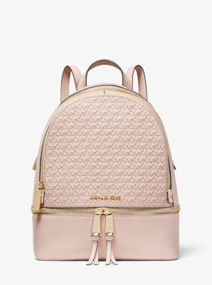 마이클 마이클 코어스 Michael Michael Kors Rhea Medium Debossed Logo Leather Backpack