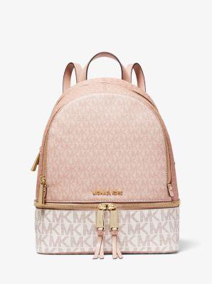 마이클 마이클 코어스 레아 로고 백팩 미디움 Michael Michael Kors Rhea Medium Color-Block Logo Backpack