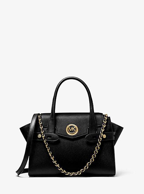 MK Petit sac porté main Carmen en cuir saffiano à ceinture - NOIR(NOIR) - Michael Kors