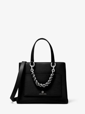 마이클 마이클 코어스 메신저백 스몰 Michael Michael Kors Cece Small Leather Chain Messenger Bag,BLACK