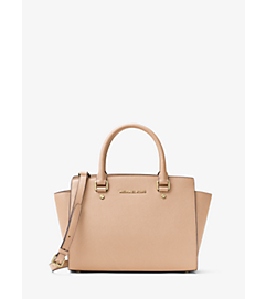 Selma Saffiano Leather Medium Satchel by Michael Kors
