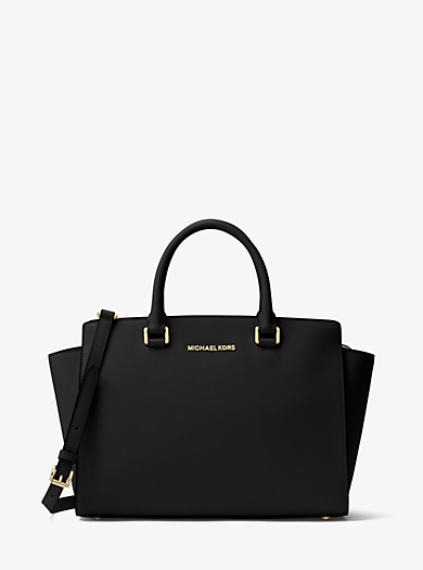 Selma Large Saffiano Leather Satchel by Michael Kors