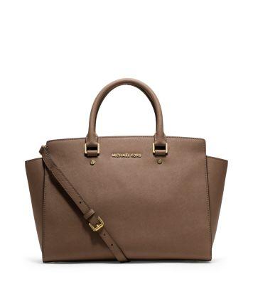 selma large saffiano leather satchel michael kors. Black Bedroom Furniture Sets. Home Design Ideas