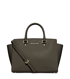 Selma Large Saffiano Leather Satchel