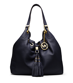 Camden Large Leather Drawstring Shoulder Bag
