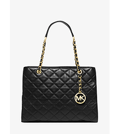 Susannah Large Quilted-Leather Tote by Michael Kors
