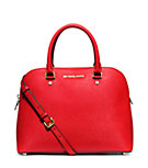 Cindy Large Saffiano Leather Satchel