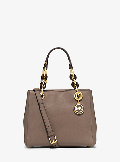 Cynthia Small Leather Satchel by Michael Kors